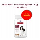 Offre Hill's: Hill's Science Plan Canine Adult Medium Advanced Fitness agneau 12 kg + 2,5 kg offerts