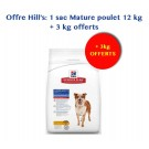 Offre Hill's: Hill's Science Plan Canine Mature Adult 7+ Active Longevity Medium 12 kg + 3 kg offerts
