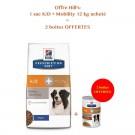 Offre Hill's: 1 sac Prescription Diet Canine K/D + Mobility 12 kg acheté = 2 boites k/d+Mobility mijotés poulet et légumes offertes- La Compagnie des Animaux