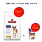 Offre Hill's: 1 sac Science Plan Canine Mature Adult 7+ Active Longevity Medium 12 kg acheté = 4 boites canine mature 370 g offertes