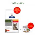 Offre Hill's: 1 sac Prescription Diet Feline Metabolic + Urinary Stress 4 kg acheté = 2 boites Feline Metabolic mijotés poulet et légumes offertes