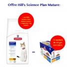 Offre Hill's: 1 sac Science Plan Feline Mature Adult Active Longevity Poulet 5 kg acheté = 1 Pack Mixte sachets 12 x 85 grs offert