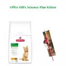 Offre Kitten: 1 sac Hill's Science Plan Kitten Healthy Development Poulet 5 kg acheté = 1 canne à pêche offerte- La Compagnie des Animaux