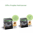 Offre Purina Proplan Cat Nutrisavour Sterilised Poulet 1 boite achetée = la 2ème à -60%