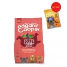 Offre Edgard & Cooper: 1 sac de croquettes Poulet frais & Saumon norvégien sans céréales Chien Senior 2,5 kg = 1 sachet de Bonbecs au poulet offert