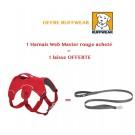 Offre: 1 Harnais Ruffwear Web Master Rouge M acheté = 1 laisse OFFERTE