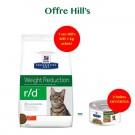 Offre Hill's: 1 sac Prescription Diet Feline R/D 5 kg acheté = 2 boites Feline Metabolic mijotés poulet et légumes offertes