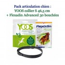 Pack articulation -10% : YOOS Collier S 70 cm + Flexadin Advanced 30 bouchées