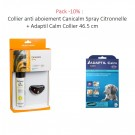 Pack -10% : Collier anti aboiement Canicalm Spray Citronnelle + Adaptil Calm Collier 46.5 cm