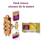 Pack oiseaux de la nature: 1 Distributeur Boule de graisse Le Festin des Oiseaux + 6 Boules de graisse Gasco