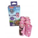 Paw Patrol sacs de propreté rose et gris 160 sacs- La Compagnie des Animaux