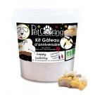 PetCooking Kit Gâteau D'anniversaire Vanille Os pour chien 350 g
