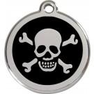 """RedDingo Médaille d'identité """"Tête de Mort"""" noir - La Compagnie des Animaux"""
