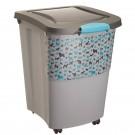 Rotho Pet Food Container 38 L Gris avec pelle - La Compagnie des Animaux