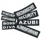 2 Stickers Velcro Julius K9 taille S GIRLPOWER