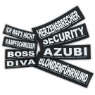 2 Stickers Velcro Julius K9 taille L BULLDOZER