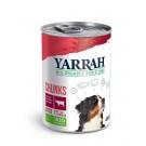 Yarrah Bio Bouchées de boeuf et poulet en sauce aux orties et tomate pour chien 6 x 820 grs- La Compagnie des Animaux