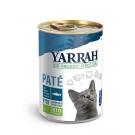 Yarrah Bio Pâté de poisson MSC à la spiruline / algues marines pour chat 12 x 400 grs