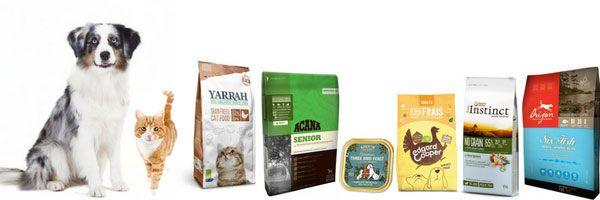 Alimentation sans céréales pour chien et chat