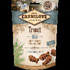 Carnilove Friandises Semi-Humides Truite & Aneth chien - La Compagnie des Animaux