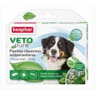 Beaphar VETOpure 6 Pipettes répulsives antiparasitaires grand chien + 30 kg