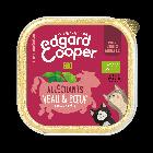 Edgard & Cooper Alléchants Veau & Boeuf BIO pour chat - La Compagnie des Animaux