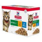 Hill's Science Plan Feline Kitten Healthy Development Pack Mixte sachets 12 x 85 grs