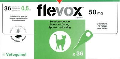 Flevox chat 6 pipettes generique frontline www - Frontline combo chat 6 pipettes ...