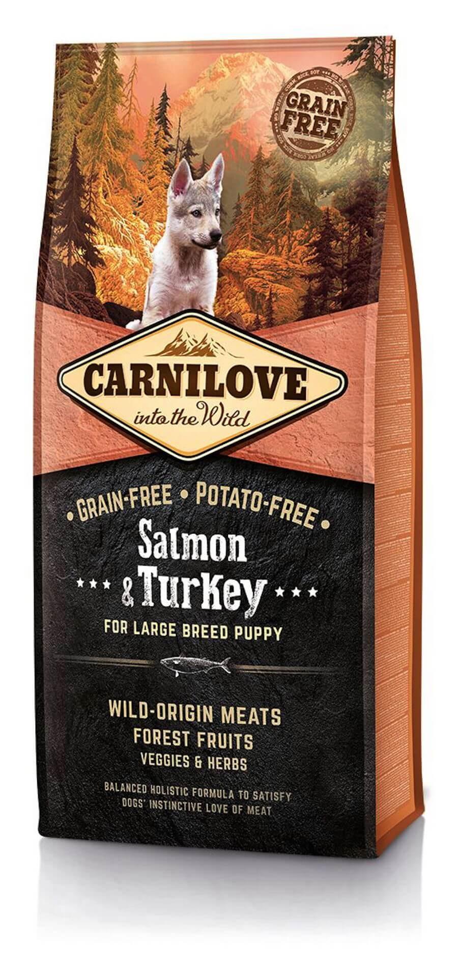 croquettes carnilove salmon turkey alimentation pour chiots. Black Bedroom Furniture Sets. Home Design Ideas