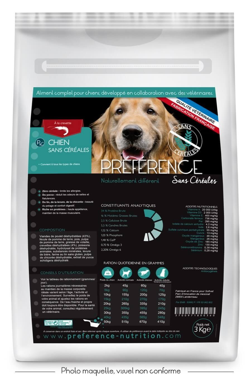 pr f rence croquettes chien sans c r ales 10 kg sans c r ales preference alimentation bio. Black Bedroom Furniture Sets. Home Design Ideas