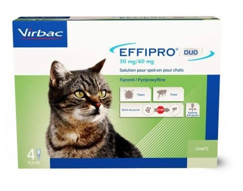 effipro duo chat 1 6 kg 4 pipettes pipettes spot on puces et tiques antiparasitaires et. Black Bedroom Furniture Sets. Home Design Ideas