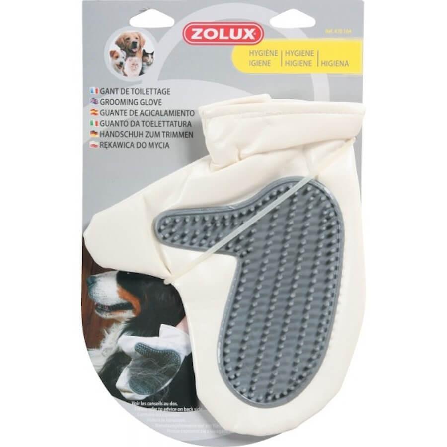 zolux gant de toilettage retire les poils de chiens et chats. Black Bedroom Furniture Sets. Home Design Ideas