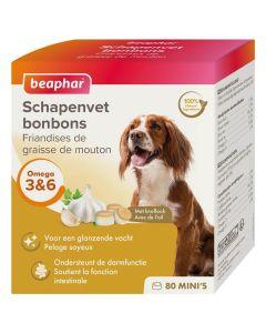 Beaphar Friandises Mini graisse de mouton & ail pour chien x80