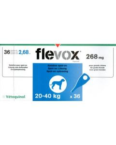 Flevox Chien 20-40kg 3 pipettes