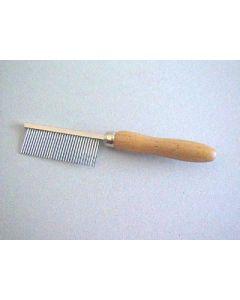 Peigne manche en bois Denture métal fine 17 cm- La Compagnie des Animaux