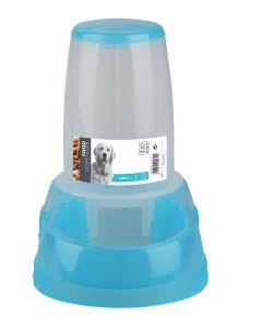 M-Pets Distributeur de croquettes bleu 2500 ml