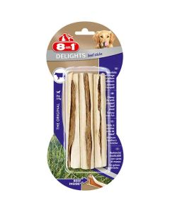 8in1 Delights Beef Sitcks pour chien x3- La Compagnie des Animaux