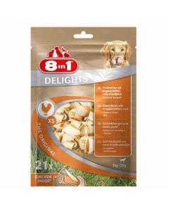 8in1 Delights Bone XS pour chien x21- La Compagnie des Animaux
