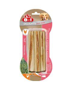 8in1 Delights Porc Sitcks pour chien x3- La Compagnie des Animaux