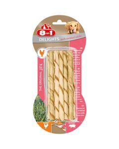 8in1 Twisted Sticks Porc XS pour chien x10- La Compagnie des Animaux