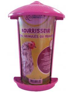 Plume & Compagnie Nourrisseur spécial granulés ou friandises pour poules