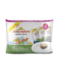 Almo Nature Chat Classic Multi Pack Assortiment de recettes au thon 6 x 55 grs