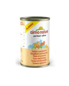 Almo Nature Chat Classic Thon et Crevettes 24 x 140 grs - La compagnie des animaux