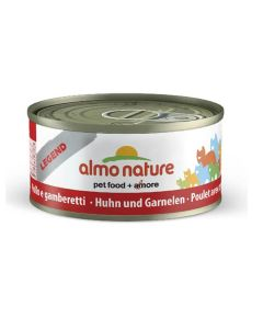 Almo Nature Chat Legend Poulet et crevettes 6 x 70 grs - La compagnie des animaux