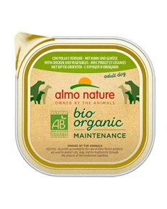 Almo Nature Chien Bio Organic Maintenance poulet et legumes 9 x 300 grs