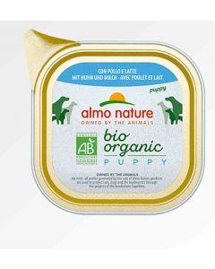 Almo Nature Chien Bio Organic Maintenance Puppy poulet et lait 32 x 100 grs