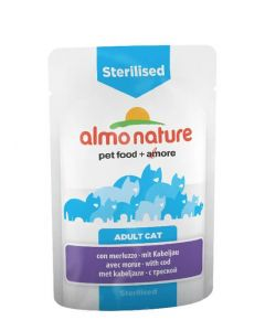 Almo nature Chat Sterilised Morue 30 x 70 grs