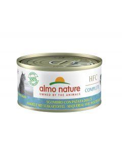 Almo Nature Chat HFC Complete Maquereau avec patates douces sans céréales 24 x 70 g