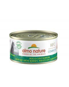 Almo Nature Chat HFC Complete Poulet Haricots Verts sans céréales 24 x 70 g