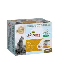 Almo Nature Chat HFC Natural Light Meat Blanc de Poulet 4 x 50 g